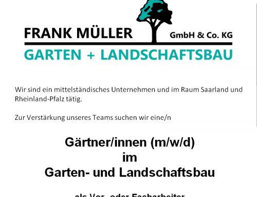 Stellenanzeige Gärtner/in im Garten- und Landschaftsbau